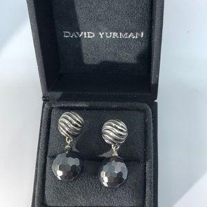 David Yurman Silver Sculpted Elements Earrings